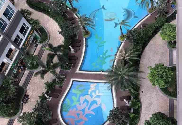 Vinhomes Park 5 with 2 bedrooms for sale swimming pool view